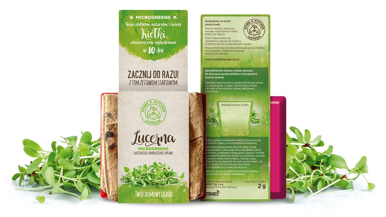 Kiełki lucerny Home & Kitchen Garden są źródłem fitoestrogenów, czyli hormonów roślinnych, które łagodzą symptomy menopauzy. Zapobiegają osteoporozie, nowotworom i chorobom serca. Mają zdolność odtruwania organizmu.